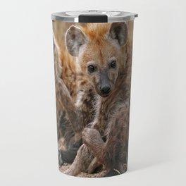 Young hyenas, Africa wildlife Travel Mug