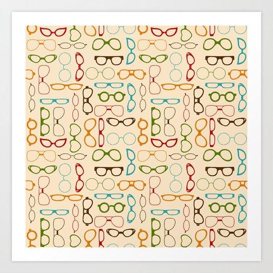 Retro glasses Art Print