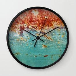 Teal Rust Wall Clock