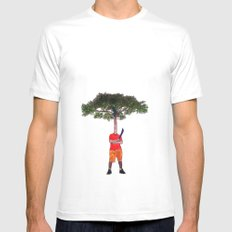 Warrior tree Mens Fitted Tee White MEDIUM