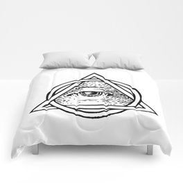 Illuminati Triangle Comforters