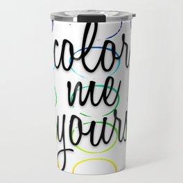 Color Pattern Travel Mug