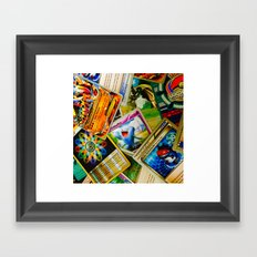 Card Collection Framed Art Print
