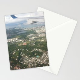 Puerto Rico birds eye view before Maria Stationery Cards