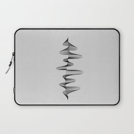 Abstract 80s Soundwave Art Music Audio black and white Musical design home wall bedroom decor Art Pr Laptop Sleeve