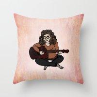 megan lara Throw Pillows featuring Lara by Ilse Busschers