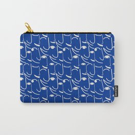 Smiling Side Faces Carry-All Pouch