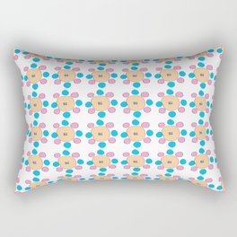 Circle and abstraction 9- blue abstract,geometric,geometrical,circle,sphere Rectangular Pillow