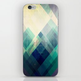 Mountains print, Abstract print, geometric wall art, abstract mountain, minimalist art, modern art, iPhone Skin