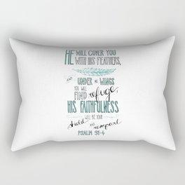 Psalm 91:4 Rectangular Pillow