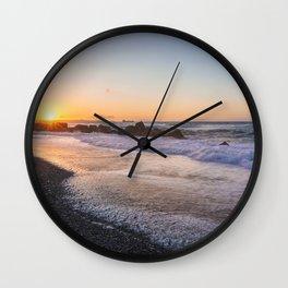 Salt air at sunset Wall Clock