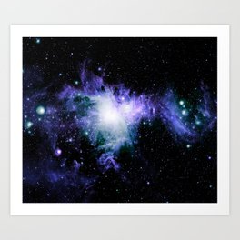 Orion Nebula purple teal blue Art Print