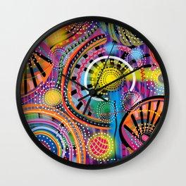 Biology of Lovers on a Rainy Night (Horizontal) Wall Clock