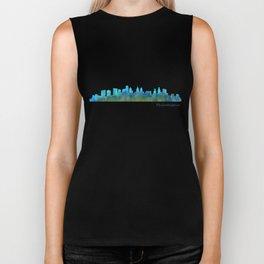 Philadelphia City Skyline Hq V1a Biker Tank