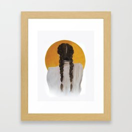 S U N Framed Art Print