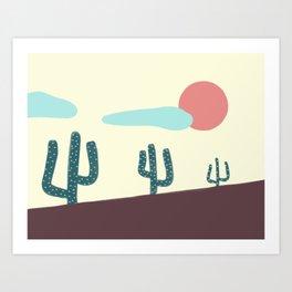 Cactus range Art Print