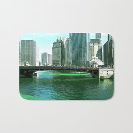 Chicago River on St. Patrick's Day #Chicago Bath Mat