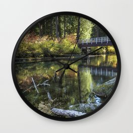 Fall at Clear Lake, No. 2 Wall Clock