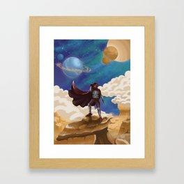 Space Cowboy Framed Art Print
