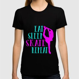 Eat Sleep Skate Repeat Funny Gift for Ice Skating T-shirt