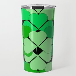 Lucky shamrocks Travel Mug