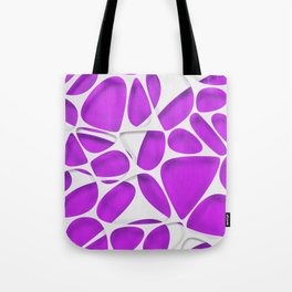 White on purple, organic abstraction Tote Bag