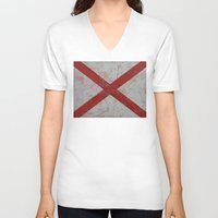 alabama V-neck T-shirts featuring Alabama by Michael Creese