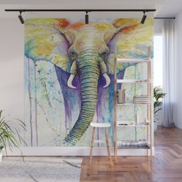 Colorful Elephant Wall Mural