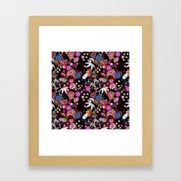 Kimono Black Framed Art Print