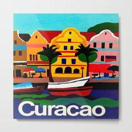 Curacao Vintage Travel Poster Metal Print