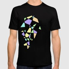 ABSTRACT GEOMETRY MEDIUM Black Mens Fitted Tee