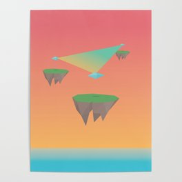 Crystal Islands in The Sky Poster