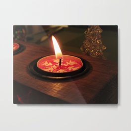 Candle flame Metal Print
