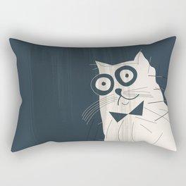 White Fashionable Cat Rectangular Pillow