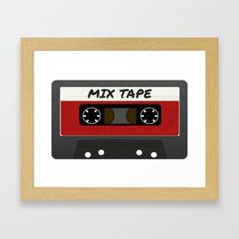 Red Mix Tape Framed Art Print