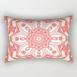 Romantic Peach Mandala Design Rectangular Pillow