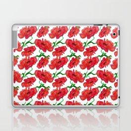 Watercolor Red Flowers Laptop & iPad Skin