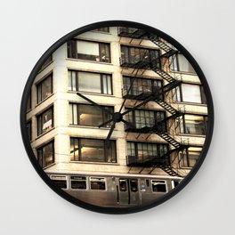 Chicago Fire Escape Wall Clock