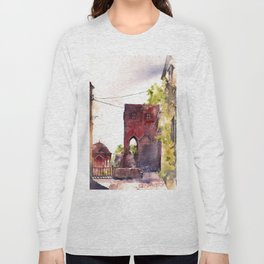 Rhodes old town streets Long Sleeve T-shirt