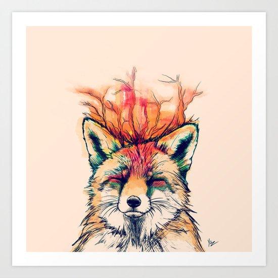 Fox Yeah! Art Print