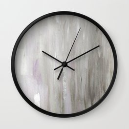 Lavender & Silver Wall Clock