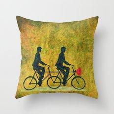 On Wheel Love Throw Pillow