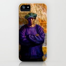 African-American Classical Masterpiece 'Homage to Langston Hughes' by Charles White iPhone Case