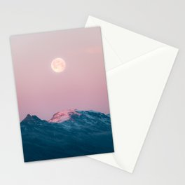 Moon and the Mountains – Landscape Photography Stationery Cards