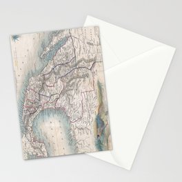 Vintage Map of Mexico (1851) Stationery Cards