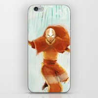 aang iPhone & iPod Skins featuring Avatar Aang by drawnerys