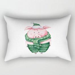 Christmas pig Rectangular Pillow