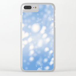 Blue Ombre Clear iPhone Case
