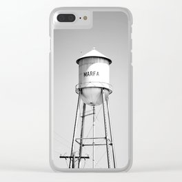 Marfa Water Tower B&W Clear iPhone Case