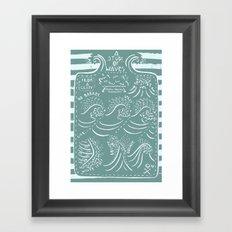 Wave observations Framed Art Print